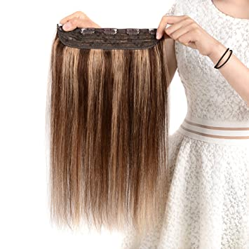 Winsky Clip in Real Hair Extensions Human Hair 5clips 55g - 1 Piece Soft  Straight 3 0ba6a76256