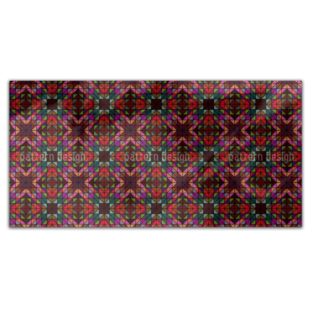 Window Glass Mosaic Rectangle Tablecloth: Large Dining Room Kitchen Woven Polyester Custom Print