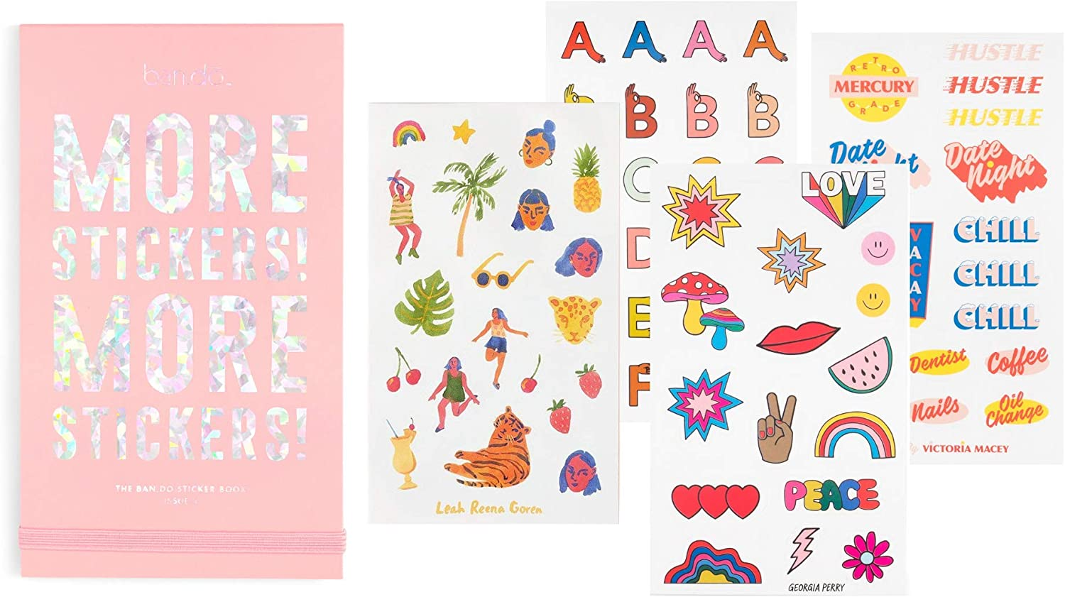 ban.do Planner Sticker Book, 35 Pages with Over 700 Assorted Stickers, Issue 4