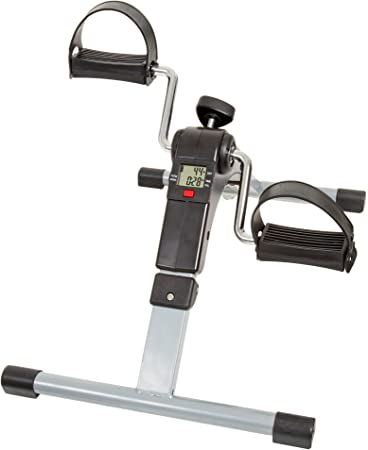 Mini Exercise Bike Pedal Exerciser Resistance Cycle Indoor Gym Black