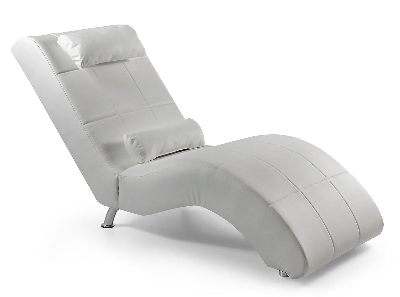 Relaxliege Relaxliege Relaxliege Enjoy 165 x 66 cm, Kunstleder, weiß 962425