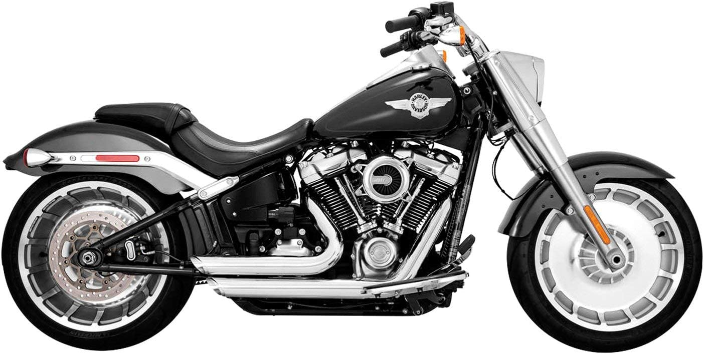 FXDR Models Vance /& Hines 17235 Chrome Shortshots Staggered Exhaust System for 2018-Newer Harley M8 Softail Breakout Fat Boy