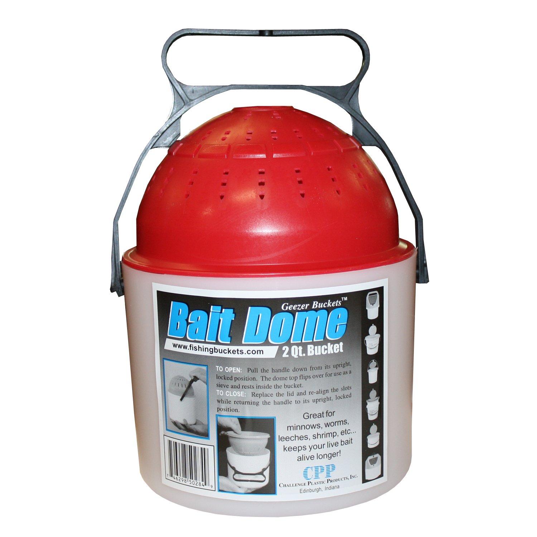 Challenge 50284 2 Quart Bait Dome, White/blue