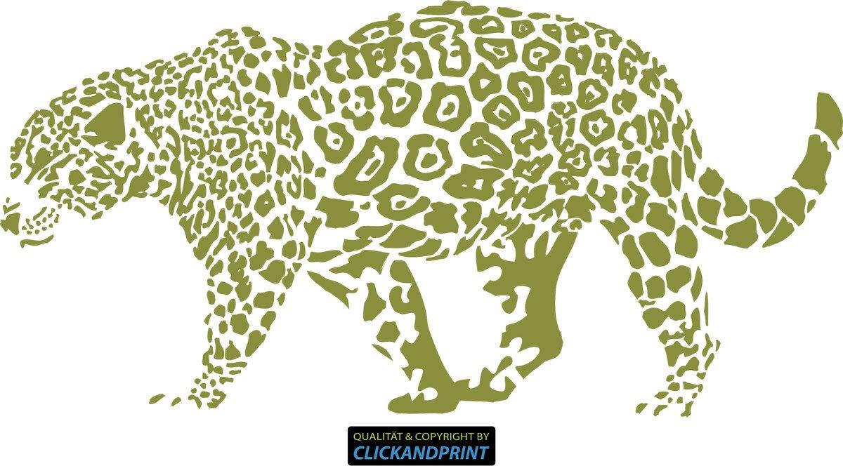 CLICKANDPRINT Aufkleber » Leopard, 150x74,4cm, Türkis • Wandtattoo   Wandaufkleber   Wandsticker   Wanddeko   Vinyl B073X7VHHJ Wandtattoos & Wandbilder