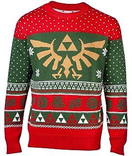 Nintendo Merch Legend of Zelda Christmas Jumper Sweater Hyrule Logo Nouveau  Officiel Homme 1f9e6d4fdfa
