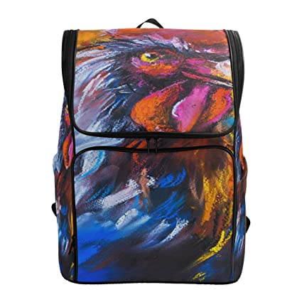 f303d22ac74c Amazon.com: Travel Backpack Original Pastel Painting of Colorful ...
