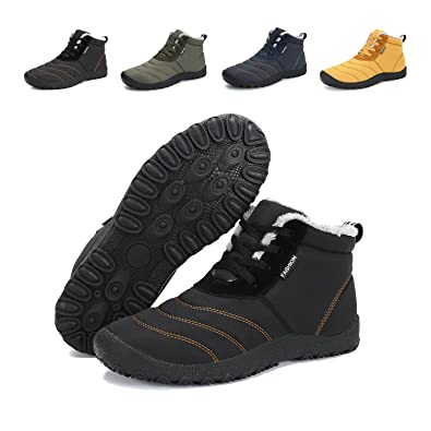 e74eed6a403a4b ba knife Lightweight Lace Up Winter Snow Boots, Anti-Slip Ankle Boots Shoes  Men