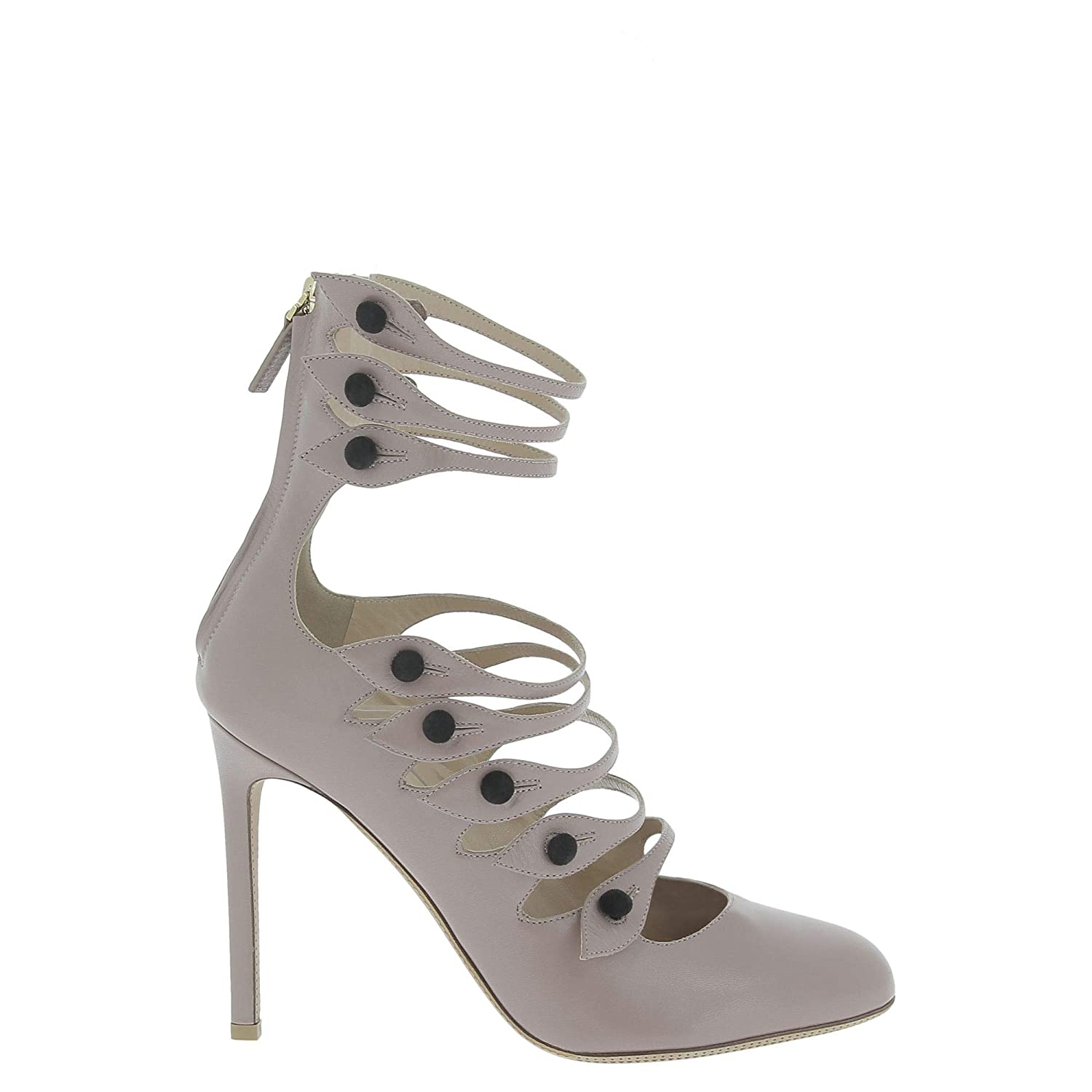 - VALENTINO Women's NW0S0E51QSN0D4 Grey Leather Pumps