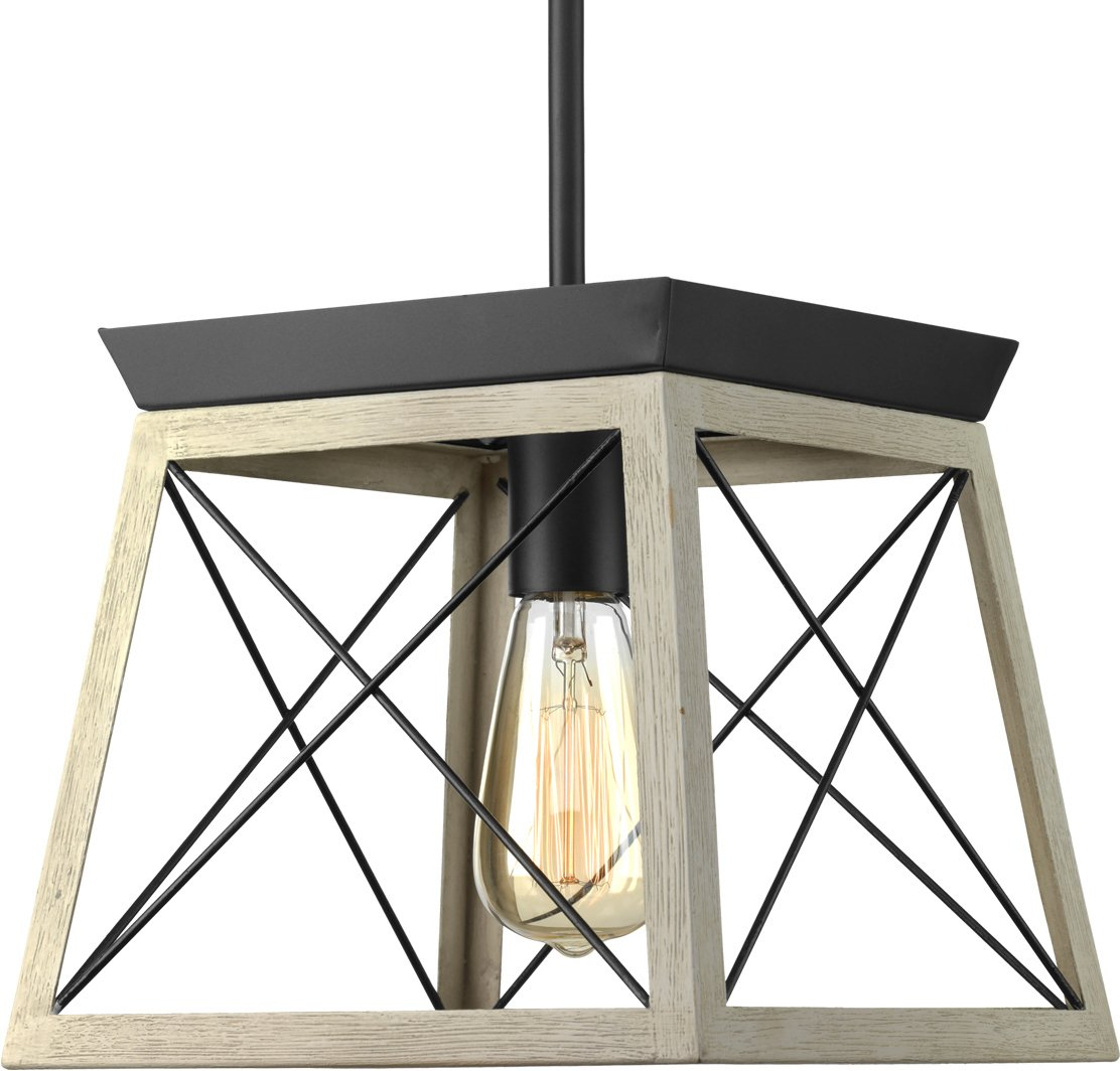 Luxury Industrial Chic Pendant Light, Small Size: 9''H x 10''W, with Modern Farmhouse Style Elements, Charcoal Finish, UHP2125 from The Berkeley Collection by Urban Ambiance