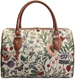 Ladies Garden Flower Travel Duffel Weekender Bag Hand Luggage Overnight Bag by Signare with Sunflower Poppy Butterfly…