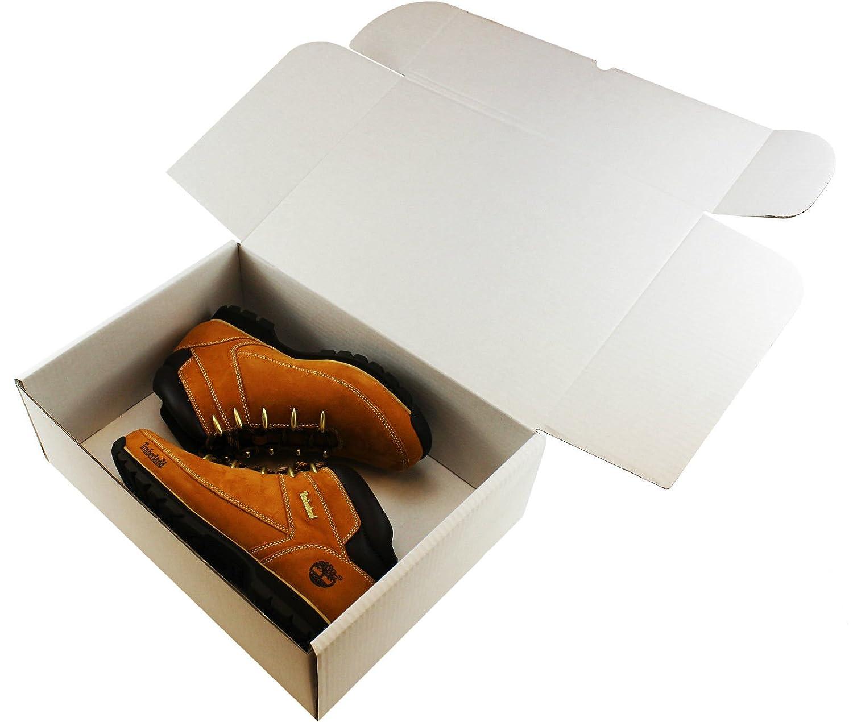 5x boîtes Blanc & # x2606; Taille: 38,1x 27,9x 12,7cm (37,5x 27,5cm x 12,5cm)–pour: Chaussures, ordinateurs portables, jouets de taille moyenne & # x2606; emballage d'expédition e