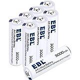 EBL 1.5V Batterie al litio, pile stilo AA confezione da 8 pezzi con durata lunga