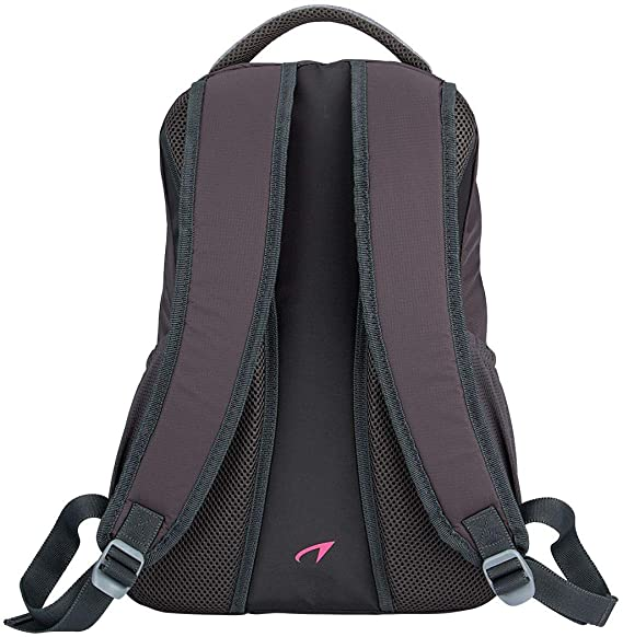 Avento womens sports backpack anthracite//mottled gray//fluoro pink