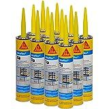 Sikaflex 1A Polyurethane Premium Grade High Performance Elastomeric Sealant, 10.3 fl oz Capacity, Capital Tan, 12 Tubes
