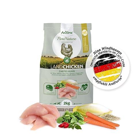 NUEVO aniforte 100% Natural trockenfutter Natural de perros Forro getreidefrei País Chicken 2 kg,
