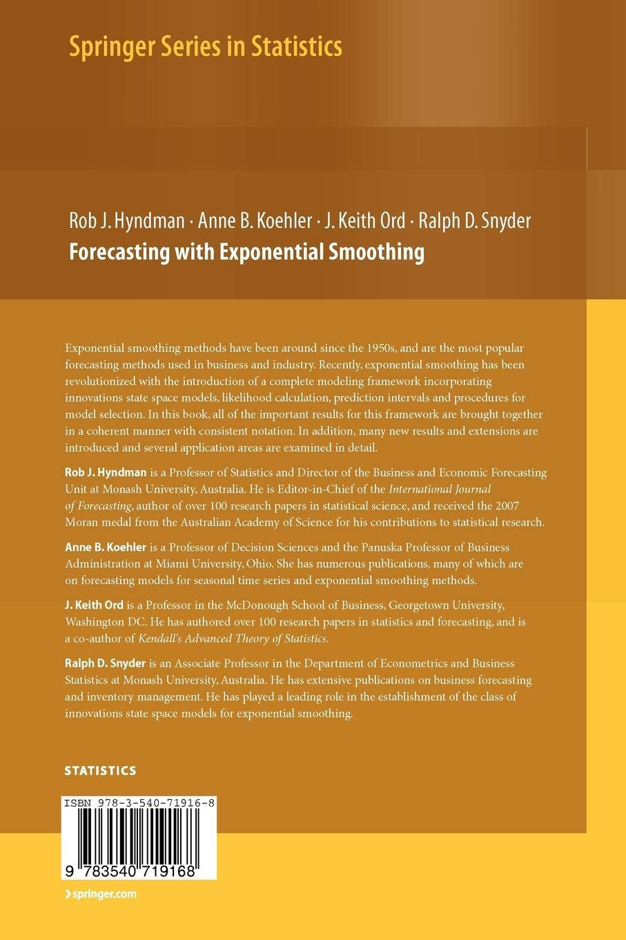 Buy Forecasting with Exponential Smoothing: The State Space