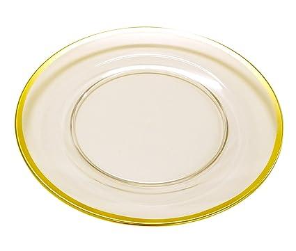 Caspari Acrylic Dinner Plate Charger 12 inch Diameter Clear with Gold Rim  sc 1 st  Amazon.com & Amazon.com | Caspari Acrylic Dinner Plate Charger 12 inch Diameter ...