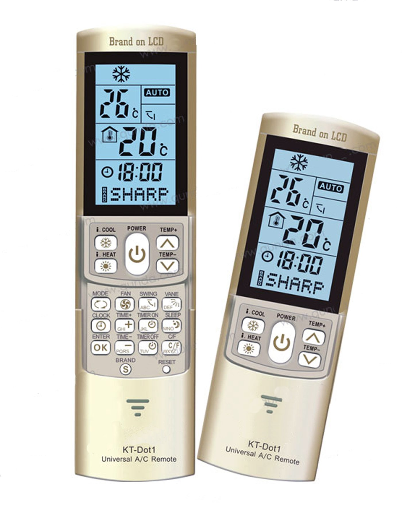 (Ship from USA) KT-DOT1 Universal LCD Remote Control Qunda Air Conditioner /ITEM#H3NG UE-EW23D26344