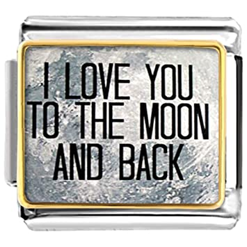 Amazoncom Luckyjewelry I Love You To The Moon And Back Nomination