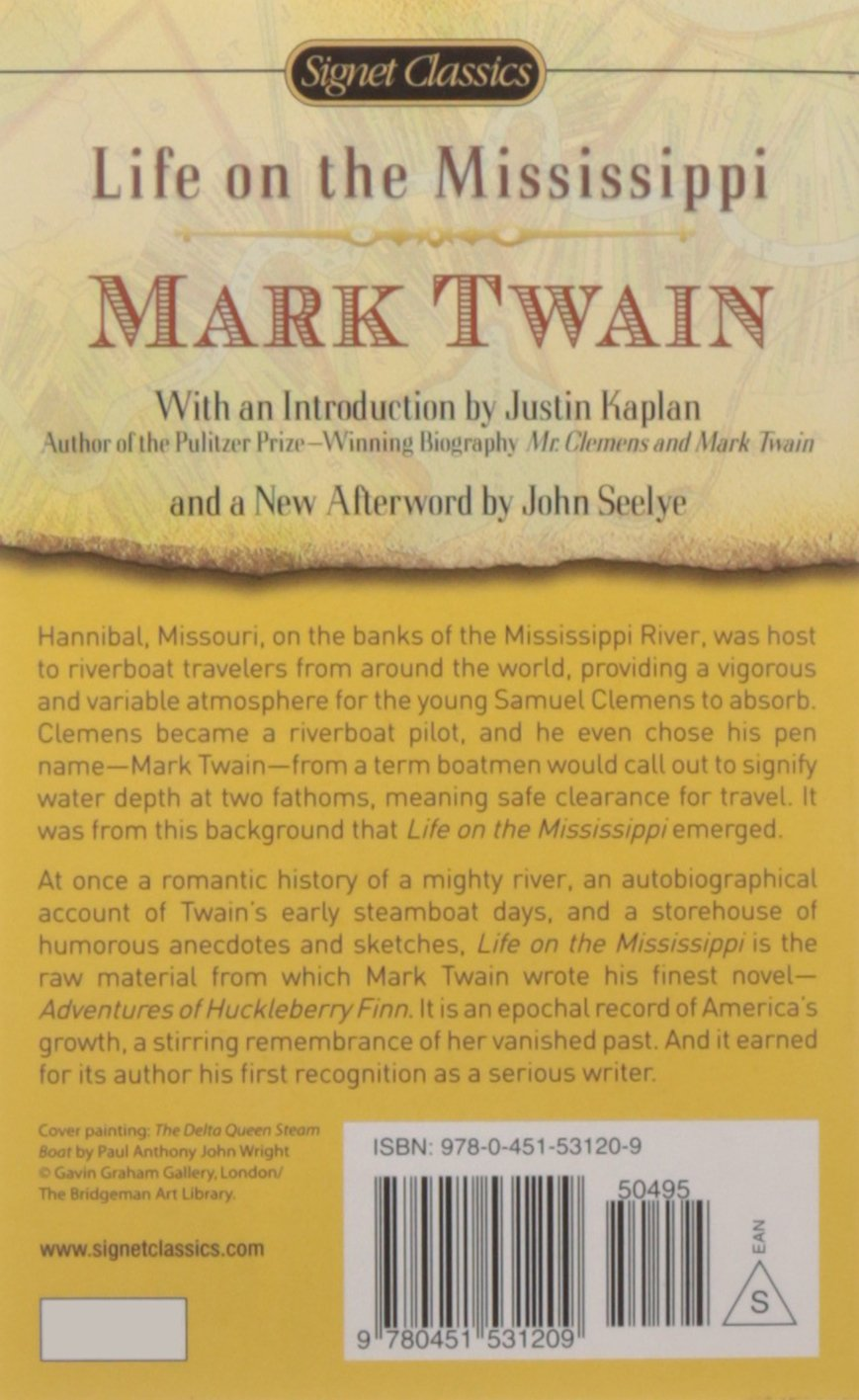 Life on the Mississippi (Signet Classics): Amazon.de: Mark Twain, John  Seelye, Justin Kaplan: Fremdsprachige Bücher