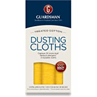 Guardsman Wood Furniture Dusting Cloths -3 Pre-Treated Cloth - Captures 2x The Dust of a Regular Cloth, Specially…