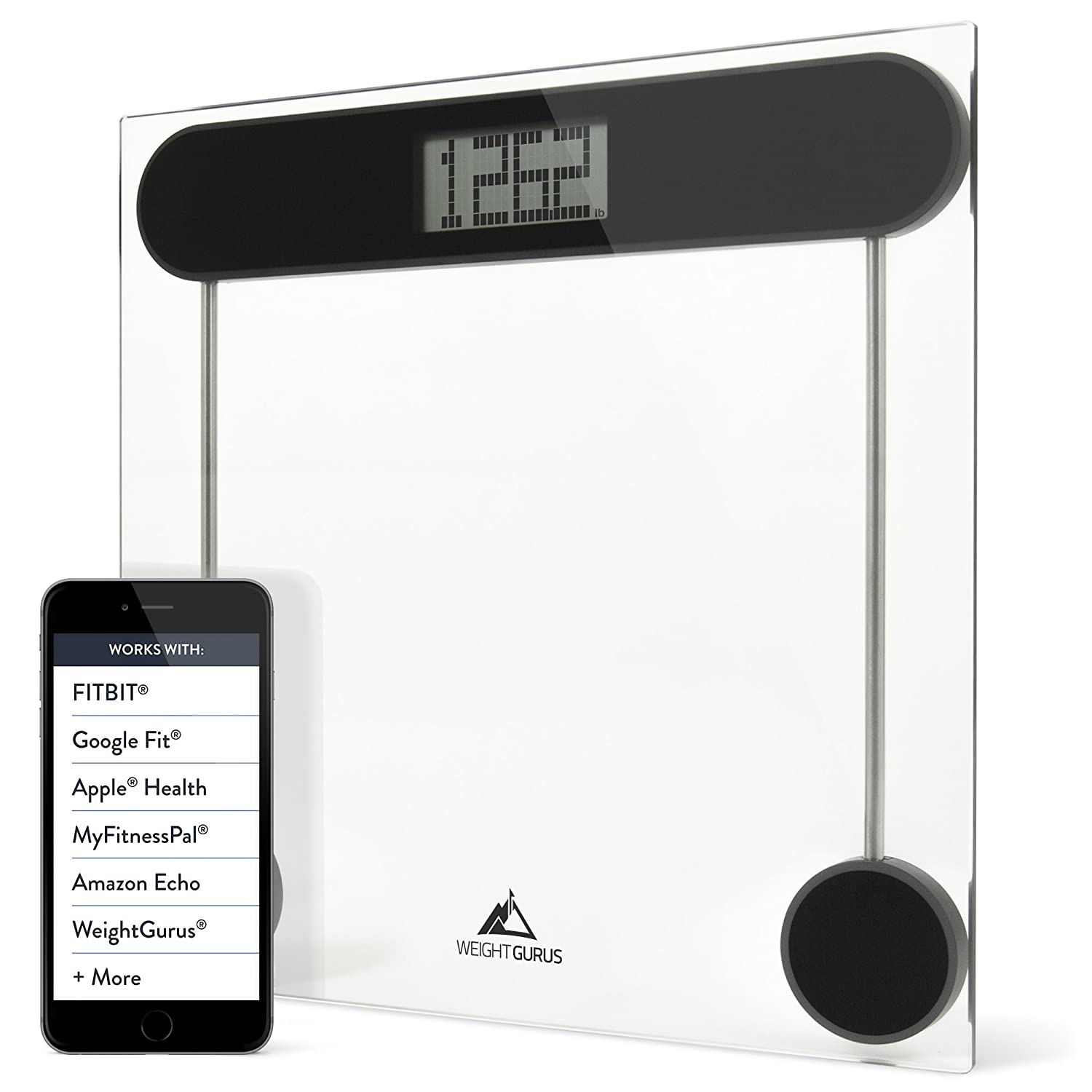 Amazon scale bathroom - Amazon Com Weight Gurus Digital Glass Bathroom Scale Large Display Precision Body Weight Measurement Accurate To 0 1 Of A Pound Batteries Included