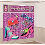 Glitzy Girl Giant Scene Setter Wall Decorating Kit (5pc)