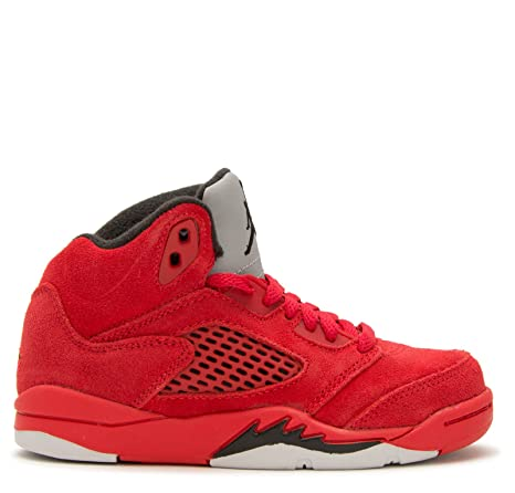 timeless design 78034 8ad22 Jordan Retro 5 Red Suede University Red Black (Little Kid) (3 M US Little  Kid)  Amazon.in  Baby