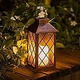 [Set of 2] TAKE ME Solar Lantern,Outdoor Garden Hanging Lantern-Waterproof LED Flickering Flameless Candle Mission…