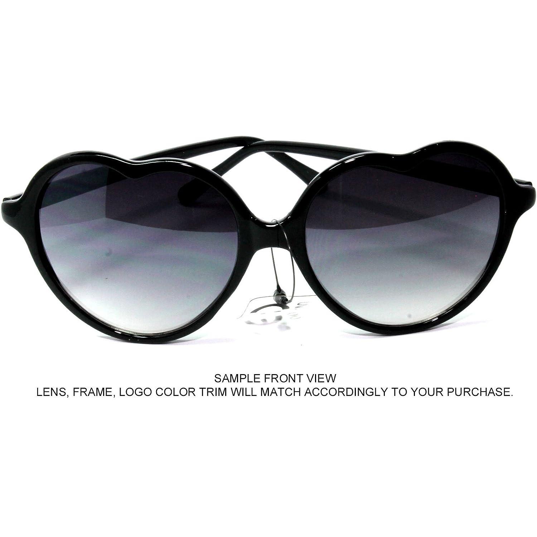 dea9b52caf Amazon.com  NG47-4 White Heart Shaped Women s Sunglasses UV400CE Gradient  Lens Plastic  Clothing