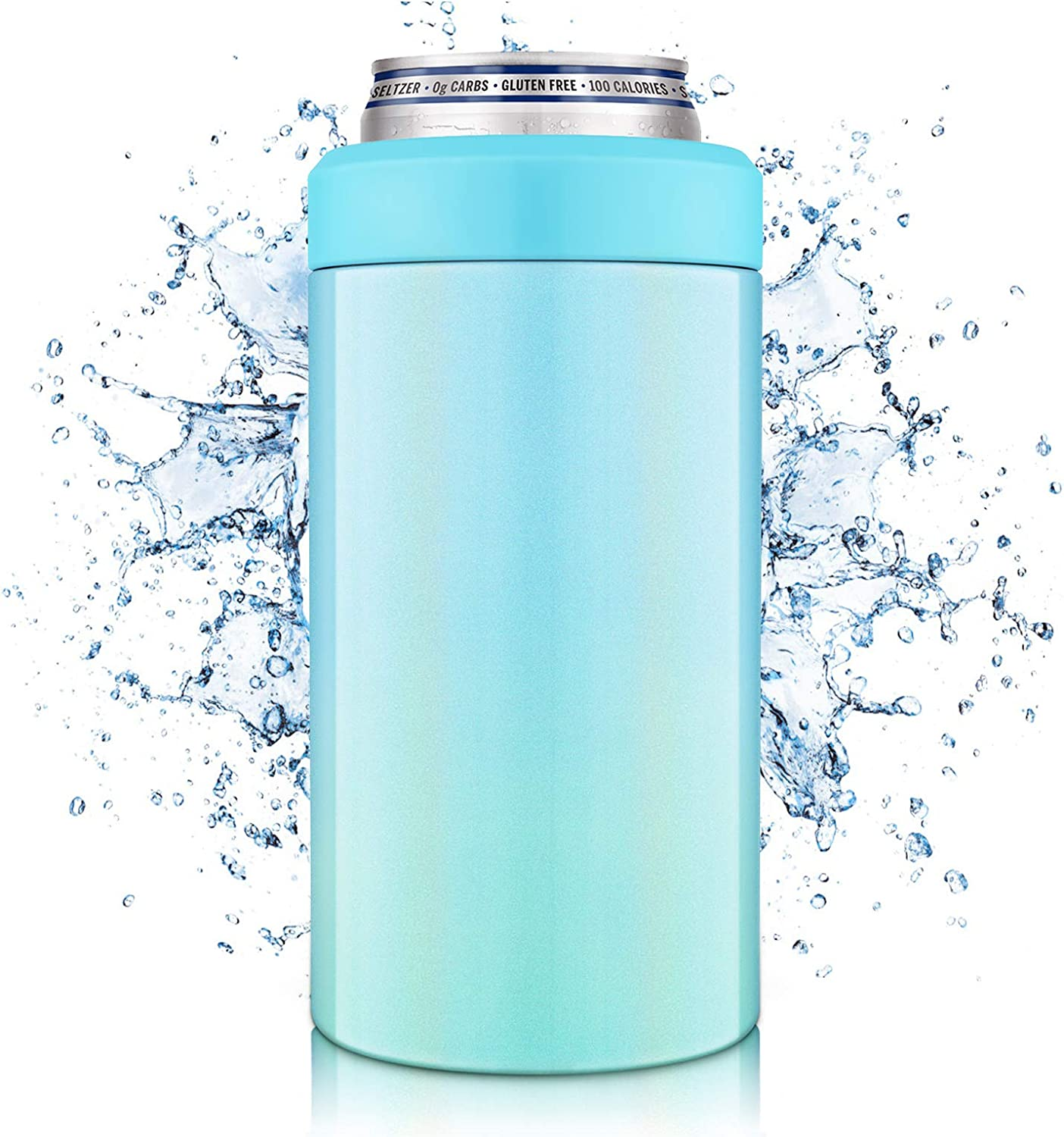 NIXIUKOL 4-IN-1 Insulated Can Cooler, Insulator for 12 Ounce Standard/Tall Skinny Slim Cans, 12 Oz Beer Bottles, Double-Walled Stainless Steel, for Women/Men