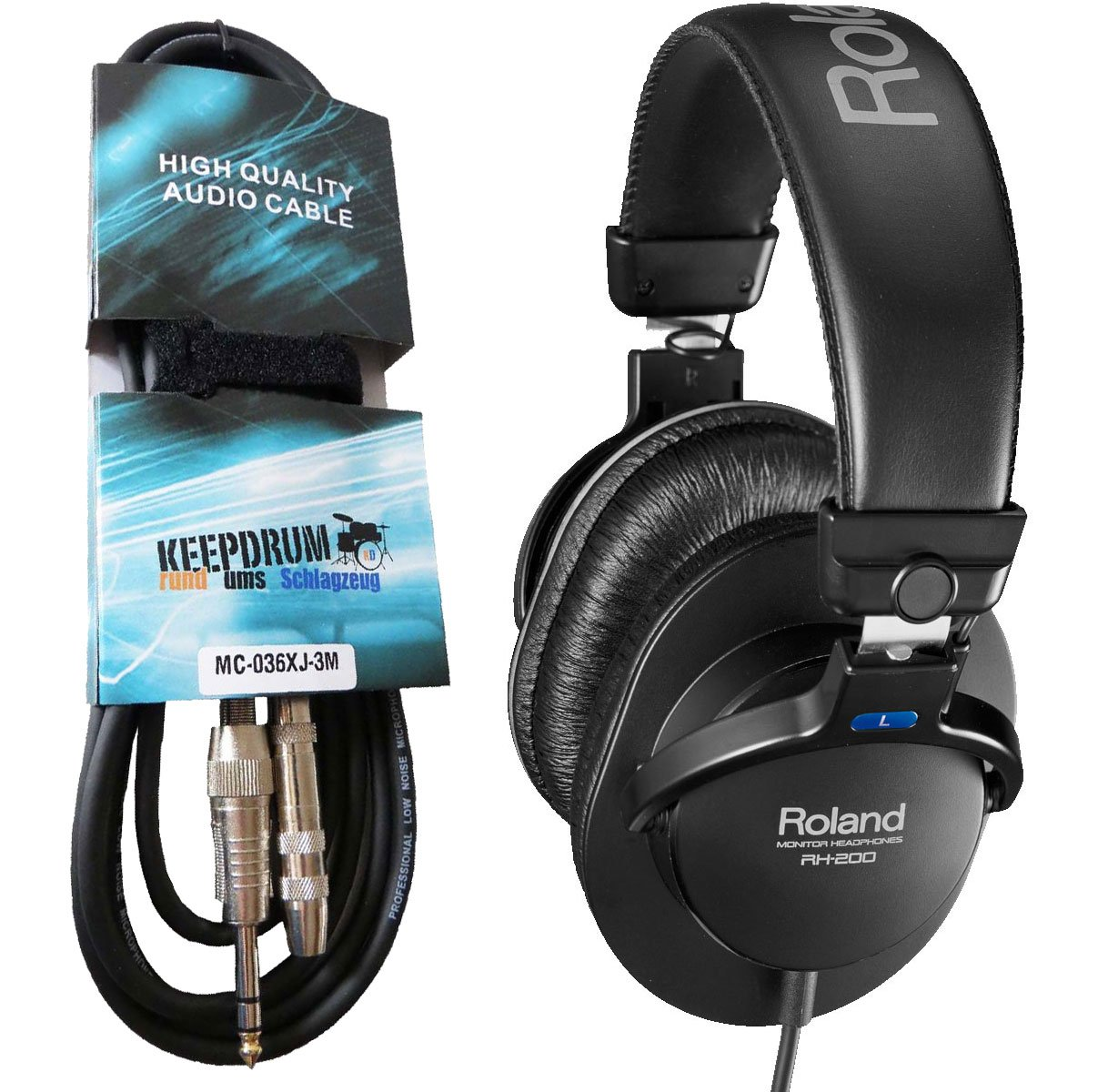 Roland RH-200 Monitor Kopfhörer schwarz + KEEPDRUM ...