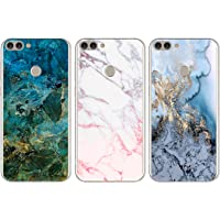 [3-Pack] Huawei P Smart Case - 3 Pcs Shockproof Ultra Thin Soft TPU Silicone Gel Phone Case Slim Fit Flexible Covers Pack of 3 for Huawei P Smart 2018