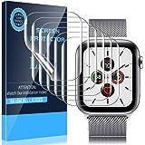 LK [6 Pack] Screen Protector for Apple Watch 40mm Series 5/6/SE 38mm Series 1/2/3, [Model No. LK0085], Flexible TPU Film, Ant
