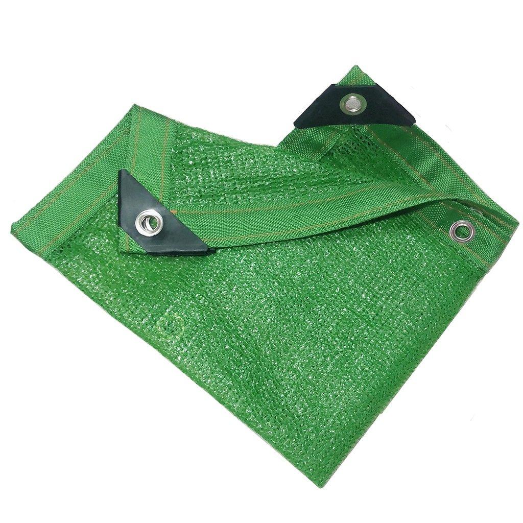 HTT verde Shade Mesh – Rete Parasole Perforata a 6 rebbi, per Piante da Balcone e Fiori Verdi, Protezione Solare 85%, 2  4m