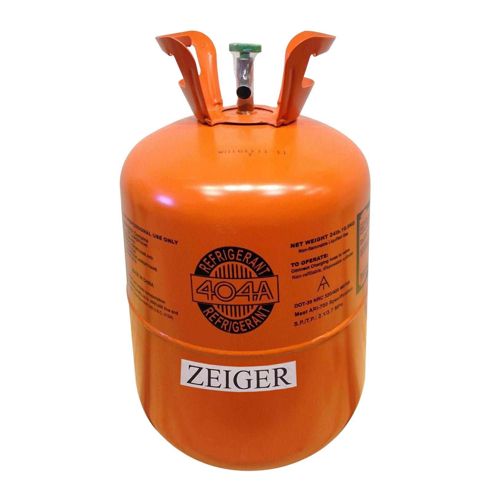R404A, Refrigerant 404A, Full of R-404A, Net 24LB Tank, Suitable for Freezer, Marine/Commercial/Industrial Equipment by Zeiger