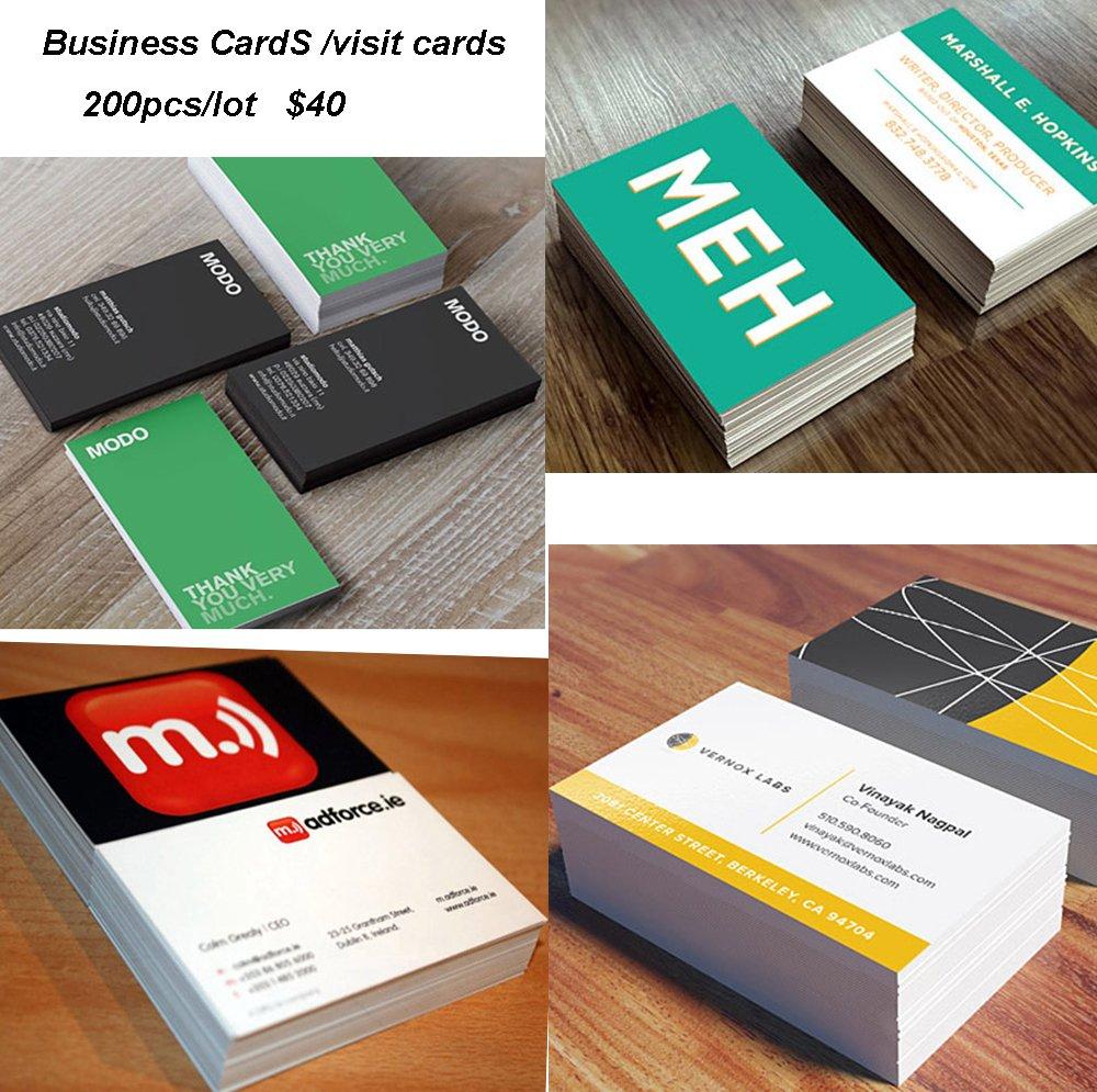 Amazon.com : 200pcs cheap business card print 300gsm coated paper ...