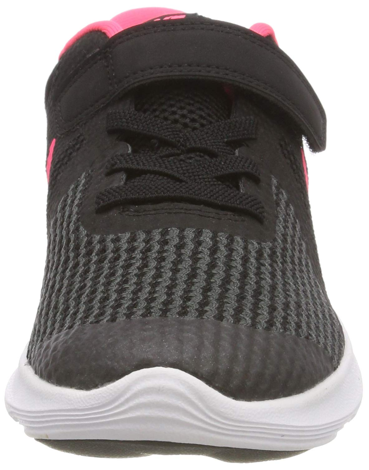 Nike Girls' Revolution 4 (PSV) Running Shoe, Black/Racer Pink - White, 12C Regular US Little Kid by Nike (Image #4)
