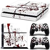 DOTBUY PS4 Vinyl Decal Autocollant Skin Sticker pour Playstation 4 console + 2 Dualshock Manette Set (Blood)