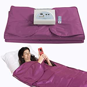SurmountWay Sauna Blanket Detox Far Infrared, Upgraded Stretch Out Hand Design Professional Body Shaper Sauna Slimming Blanket Detox Therapy Machine Fitness(Upgrade Purple