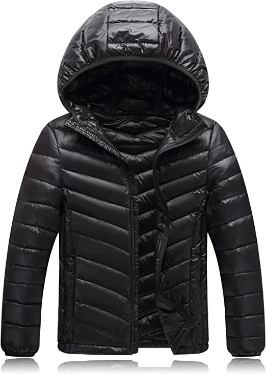 Etecredpow Mens Thickened Outwear Cotton-Padded Hoodie Down Coat Parkas Jackets