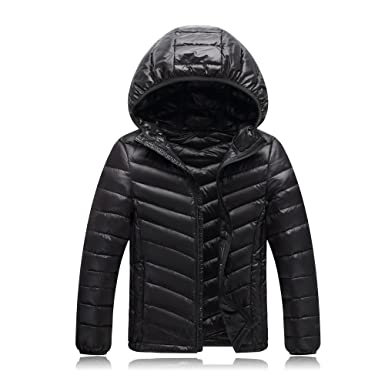 Shengdilu Big Kids Coats Girls  Boys Quilted Down Puffer Jacket Parka  Hoodie Outwear Outfit Lightweight a8ed7b3a4