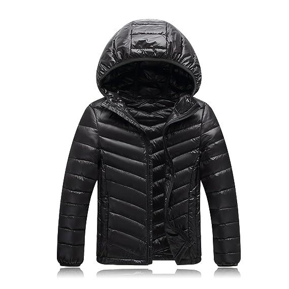 b64dd75e8bab Sweetmeet Big Kids Coat Quilted Down Puffer Jacket Parka Fur Hoodie ...