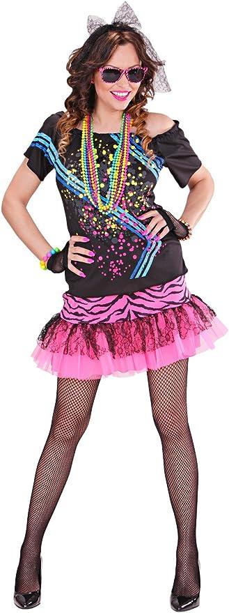 WIDMANN Disfraz Adultos, Chica rockera de los años 80: Amazon.es ...