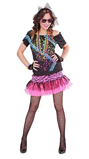 Disfraz de Widmann para adultos, chica rockera de los años 80