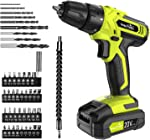 Cordless Drill - 20V Cordless Drill with Battery & Charger, Impact