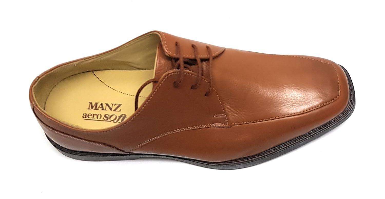 Manz Softflex Ago H Schnürhalbschuhe Cow-Milled Gummi Herren Schuhe Schnürhalbschuhe H 148003-03-177 Cognac - aab4e1
