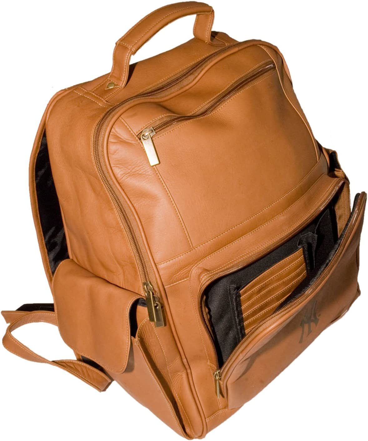 NCAA Michigan State Spartans Tan Leather Large Computer Backpack