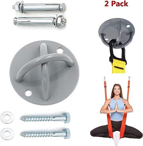 Soporte de suspensión, Soporte de techo en X para entrenamiento de suspensión Anclaje de techo - montaje en pared para correas , anillos de gimnasia, ...