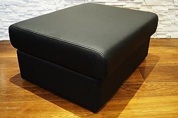 Schwarz echtleder hocker aufklappbar mit stauraum sitzhocker